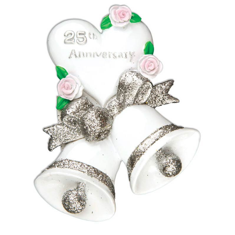 25th Wedding Anniversary Christmas Ornament