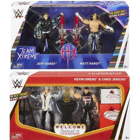 Package Deal - WWE Epic Moments (Hardy Boyz & Festival of Friendship) Toy Wrestling Action Figures - Festival Toys Wholesale