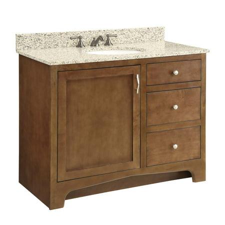 Design House 541821 1-Door 2-Drawer Vanity, Maple