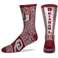 Men's For Bare Feet Oklahoma Sooners Ticket Heathered Crew Socks