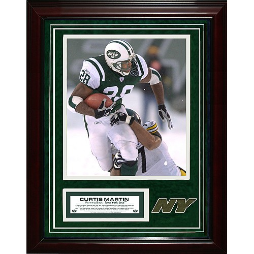 New York Jets Curtis Martin 11x14 Unsigned Turf Collage w/ 8x10 Photo