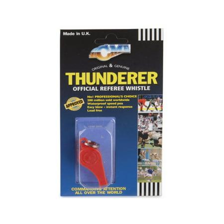 Acme Plastic Thunderer 660 Whistle with Lanyard Small Orange Dog -