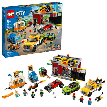 LEGO City Tuning Workshop Toy Car Garage Cool Building Set 60258