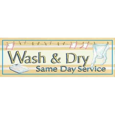Wash & Dry Laundry Mom Room Lovely Wash Laundry Sign Classic Cleaning Living Room Decoration 18X6 (Classic Decorations)