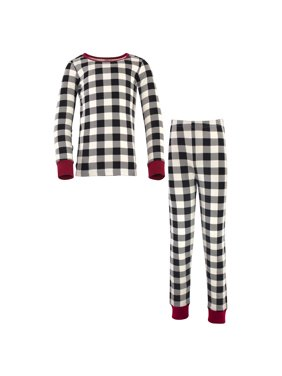 Touched by Nature Baby Girl Tight Fit Long Sleeve Top & Pants Pajama Set
