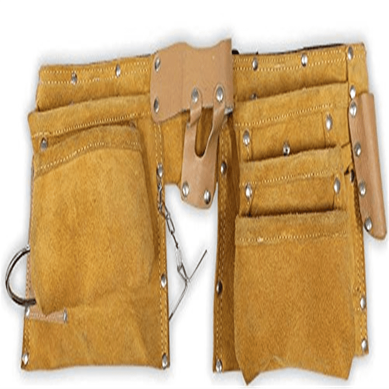 "22"" X 9"" Leather Tool Belt- 10 Pockets by ToolUSA"