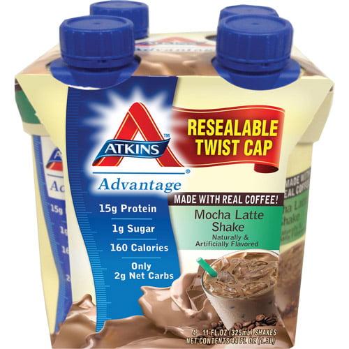 Atkins Advantage Mocha Latte Shake, 4ct