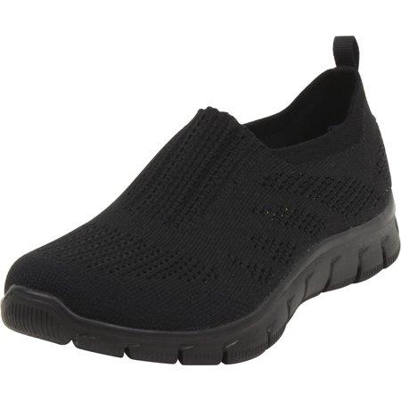 Skechers Empire - Inside Look Black/Black Memory Foam Sneakers (Best Looking Walking Shoes For Women)