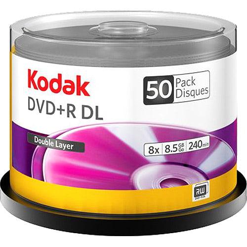 Kodak 50-Pack 8X DVD+R Dual Layer 8.5GB Cake Box