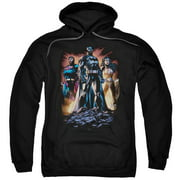 Jla Take A Stand Mens Pullover Hoodie