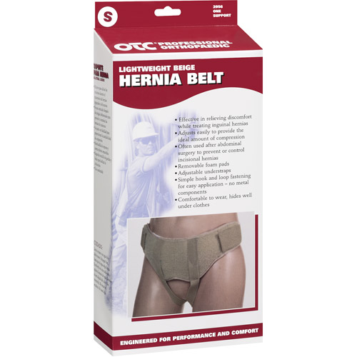 OTC Lightweight Hernia Belt, Beige, Small