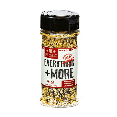 The Spice Lab Everything Bagel Seasoning - 4.6 oz Shaker Jar - Premium Gourmet PALEO and KETO Approved Spice - The Perfect Everything But the Bagel Blend - 7079 The happy accident (or mysterious experiment?) that took bagels to the next level in the 1980s is now a savory everything but the bagel seasoning distinguished by a hint of chili spice. Toss our chef-crafted, all-natural blend of crunchy Hudson valley salt, sesame seeds, dried onion and garlic, poppy seeds and chili flakes on buttered popcorn and avocado toast. Sprinkle it on soft-boiled eggs. Let it boost your barley and rock your risotto. Best used as a finishing or topping spice, but you might try mixing it into frittata ingredients before baking or use it to season your next roast. Experiment!Packed in an SQF-certified facility in the USA, this premium blend is non-GMO, kosher and gluten-free. Its perfect for your keto and paleo cooking needs. A pantry staple, it makes a great anytime gift for chefs and beginners alike.The Spice Lab is a woman-owned, family-run company with a commitment to our community. We source the highest quality spices, hire a diverse workforce and cultivate a friendly, supportive and safe work environment that reflects our brand. Our goal is to bring you delicious flavors for your cooking needs.