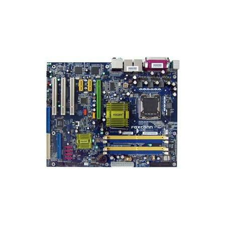 Refurbished-Foxconn945P7AA-8EKRS2Motherboard Intel 945P chipset, 1 x PCIe x16, 2 x PCIe x1, 3 x 32-bit 33MHz PCI, DDR2, Dual LAN, USB, IDE, SATA2, RAID, Audio, SPDIF, Firewire, ATX Form Factor ()