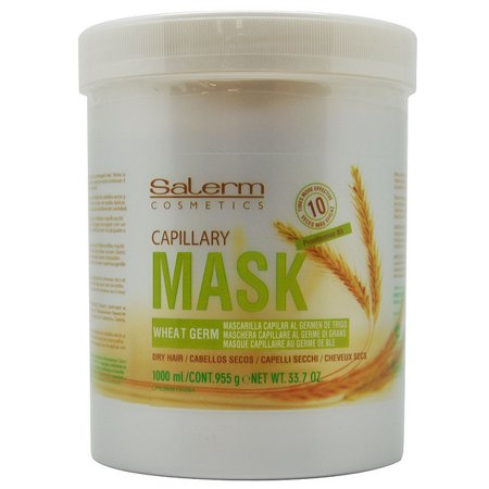 Salerm Capillary Mask Wheat Germ 1000 ml / 33.7 Oz. / 955 g for Dry (Best At Home Hair Mask For Dry Damaged Hair)