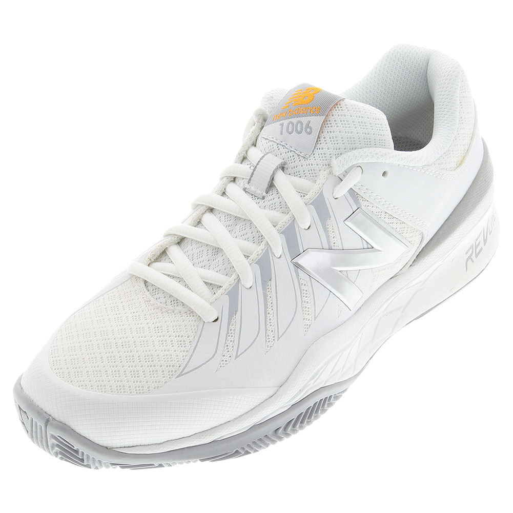 New Balance Women`s 1006 B Width Tennis Shoes White and S...