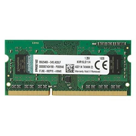 kingston technology 4gb 1600mhz ddr3l pc3-12800 1.35v non-ecc cl11 sodimm intel laptop memory