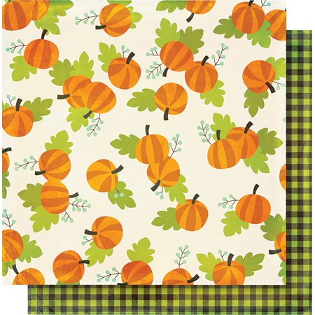 Printable Halloween Pumpkin (Simple Sets Happy Halloween Double-Sided Cardstock 12