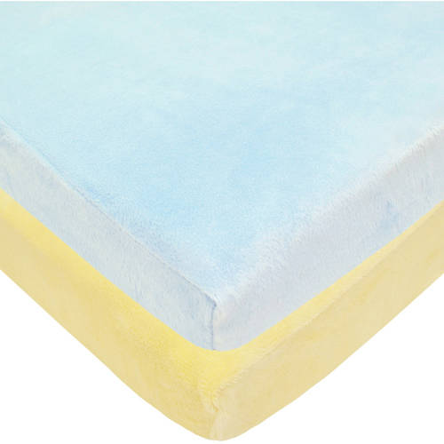 Your Choice TL Care Heavenly Soft Chenille Mini Crib Sheet, 2 Pack Value Bundle