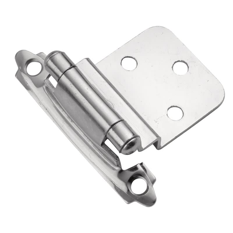 Hickory Hardware P143 Partial Inset Traditional Cabinet Door Hinge with Self Closing Function (Package of 2)