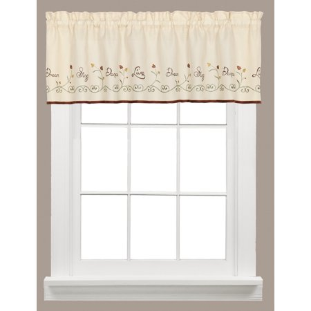 Live Dream Sing Dance Kitchen Curtain Valance
