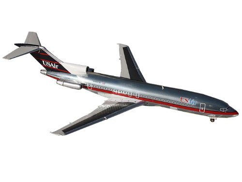 Gemini Jets B727-200 US Air (Polished 90s Livery) Airplane Diecast Vehicle, Scale 1 200 by