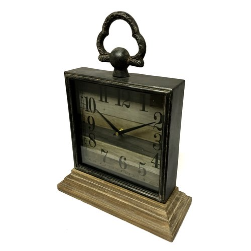 Union Rustic Mantel Tabletop Clock