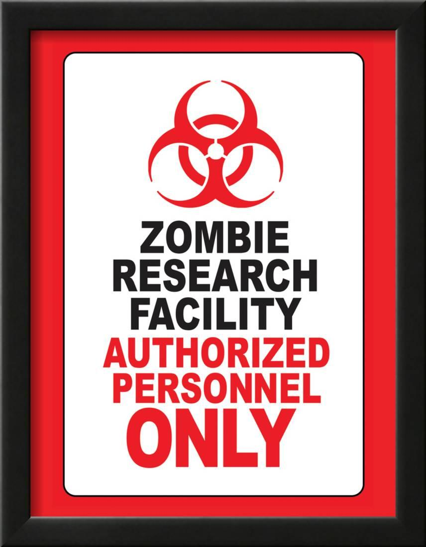 Zombie Research Facility Sign New Giant Wall Art Print Picture Poster