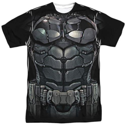 Batman Arkham Knight Uniform Mens Sublimation Shirt White LG