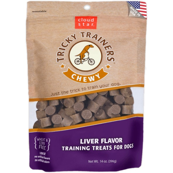Cloud Star Chewy Tricky Trainers Liver 14 oz Dog Treats