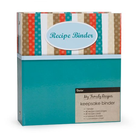 Recipe Binder Basic 40 Pages 40 Cards 4 Tabs (Diy Recipe Binder)