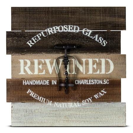 Crystal Art Gallery American Art Decor Corkscrew Wooden Pallet Wine Farmhouse (Gallery Wine)