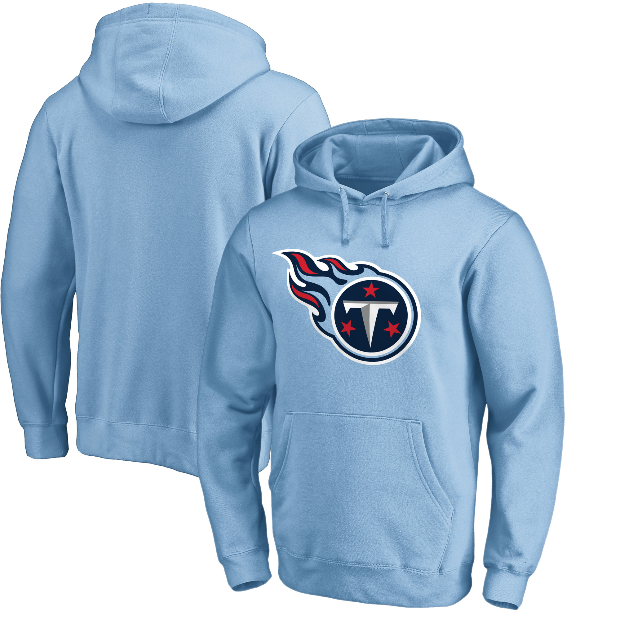 Tennessee Titans NFL Pro Line by Fanatics Branded Primary Logo Pullover Hoodie - Light Blue