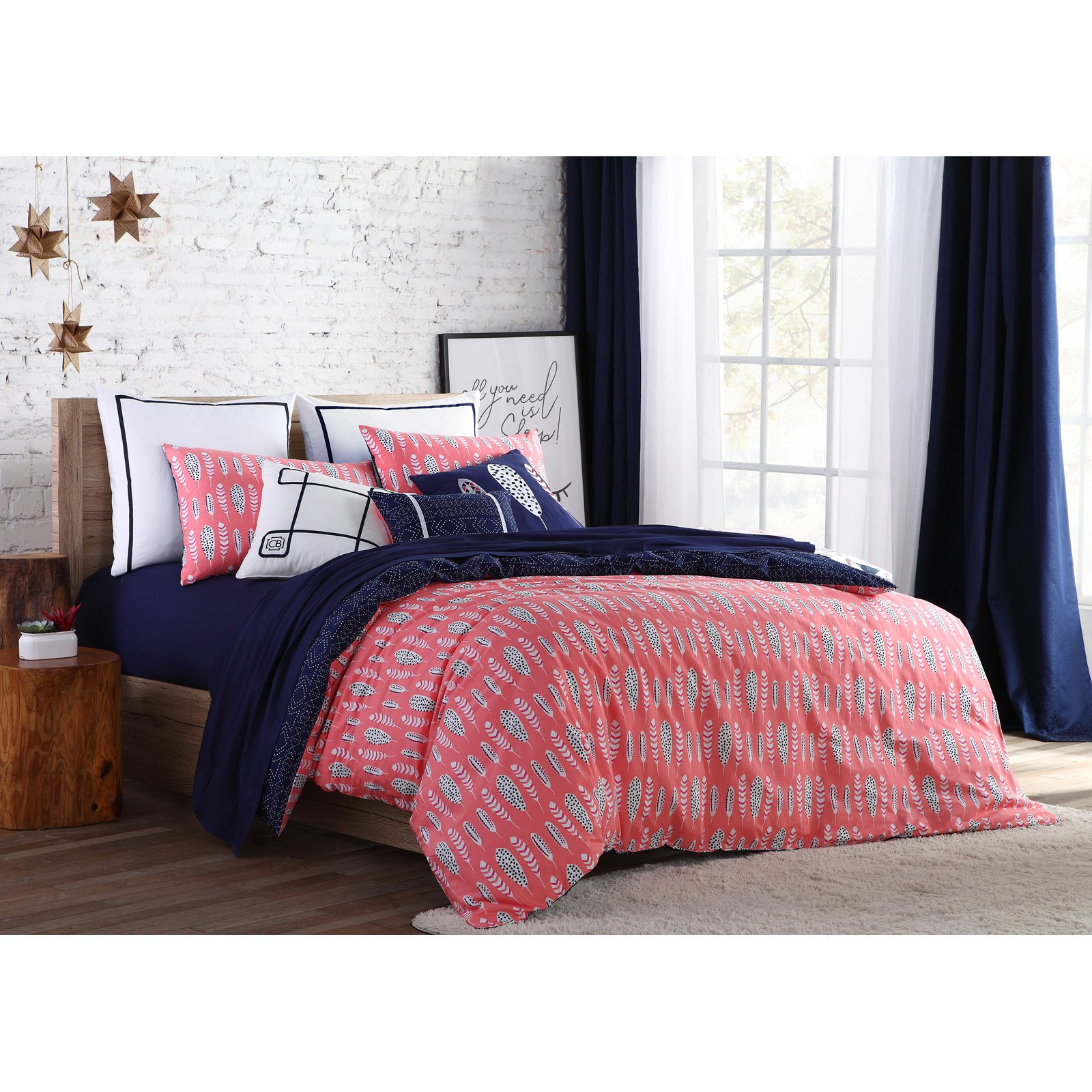 Clairebella Navajo 2/3 Piece 200 Thread Count 100% Cotton Reversible Duvet Cover Bedding Set, Shams Included