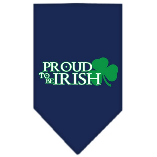 Proud to be Irish Screen Print Bandana Navy Blue large