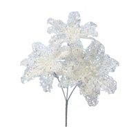Mainstays Glitter Poinsettia-White