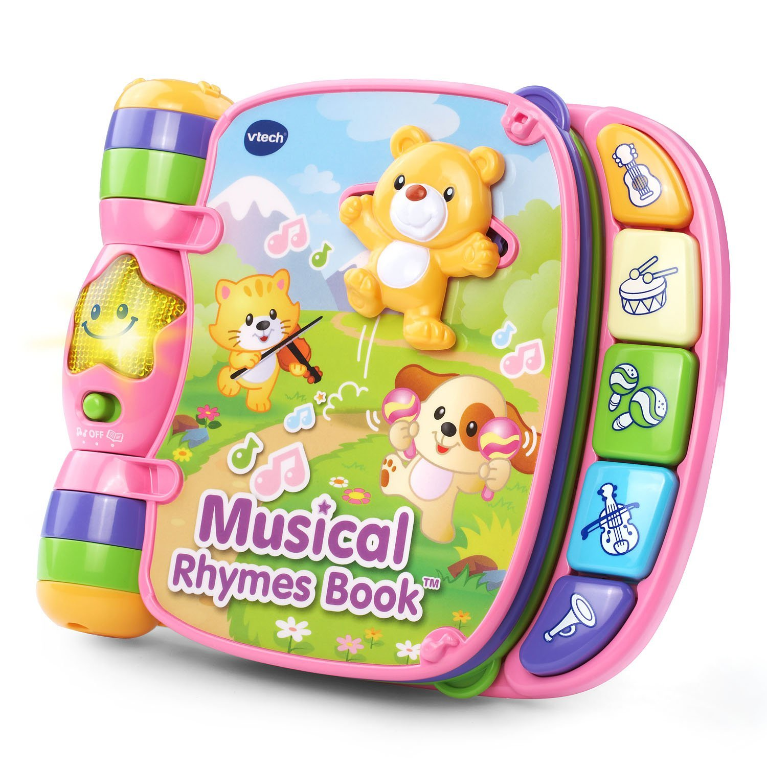 Musical Rhymes Book Pink Online Exclusive, USA, Brand VTech by