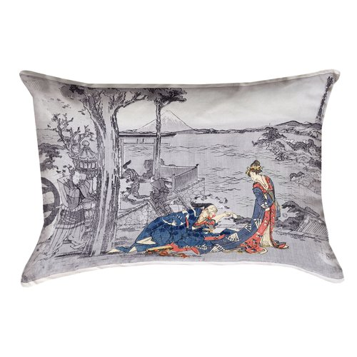 Bloomsbury Market Enya Japanese Courtesan Rectangle Pillow Cover