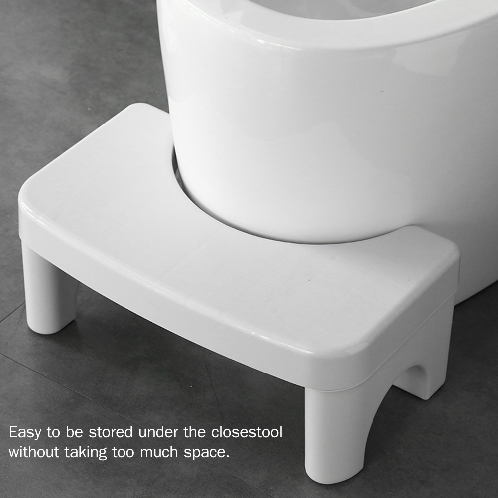 Decdeal 7-Inch Sturdy Plastic Footstool for Toilet for Adults Pregnants Elders Non-Slip Toilet Stool for Kids Toddler Training