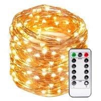 Kohree LED String Lights 66ft 200 LEDs with Remote Control,Warm White Festival Party Decorative Lights for Seasonal Holiday, Copper Wire Lights