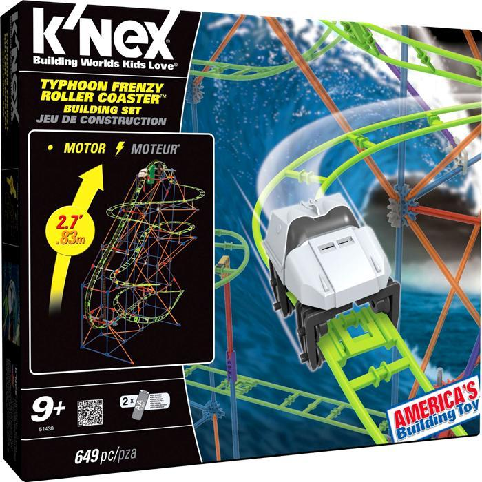 KNex Typhoon Frenzy Roller Coaster Set #51438