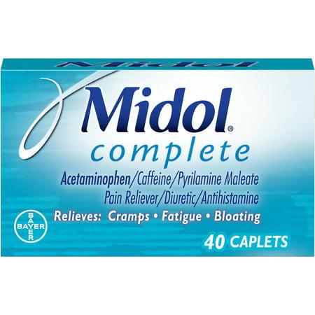 Menstrual Cramp Pain - Midol Complete, Menstrual Period Symptoms Relief, Caplets, 40 Count
