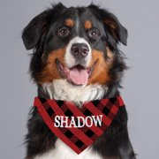 Buffalo Plaid Personalized Dog Bandana