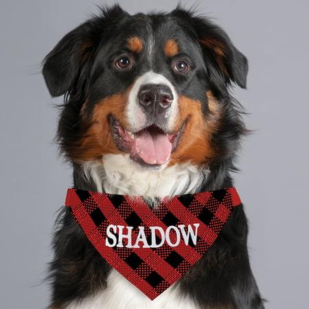 Personalized Dog Shirt - Buffalo Plaid Personalized Dog Bandana