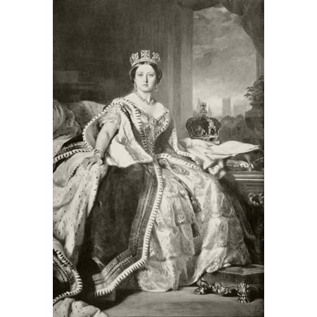 Queen Victoria 1819 To 1901 After A Painting By F Winterhalter Done In 1859 From The Book Buckingham Palace Its Furniture Decoration And History By H Clifford Smith Published 1931 Stretched Canvas -