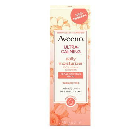 Clarifying Gel Facial Moisturizer - Aveeno Ultra-Calming Daily Facial Moisturizer with SPF 30, 2.3 fl. oz