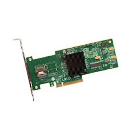 Broadcom LSI MegaRAID SAS LSI9240-4I 4-Port 6Gb/s PCI-Express SATA/SAS Single RAID Controller, Retail