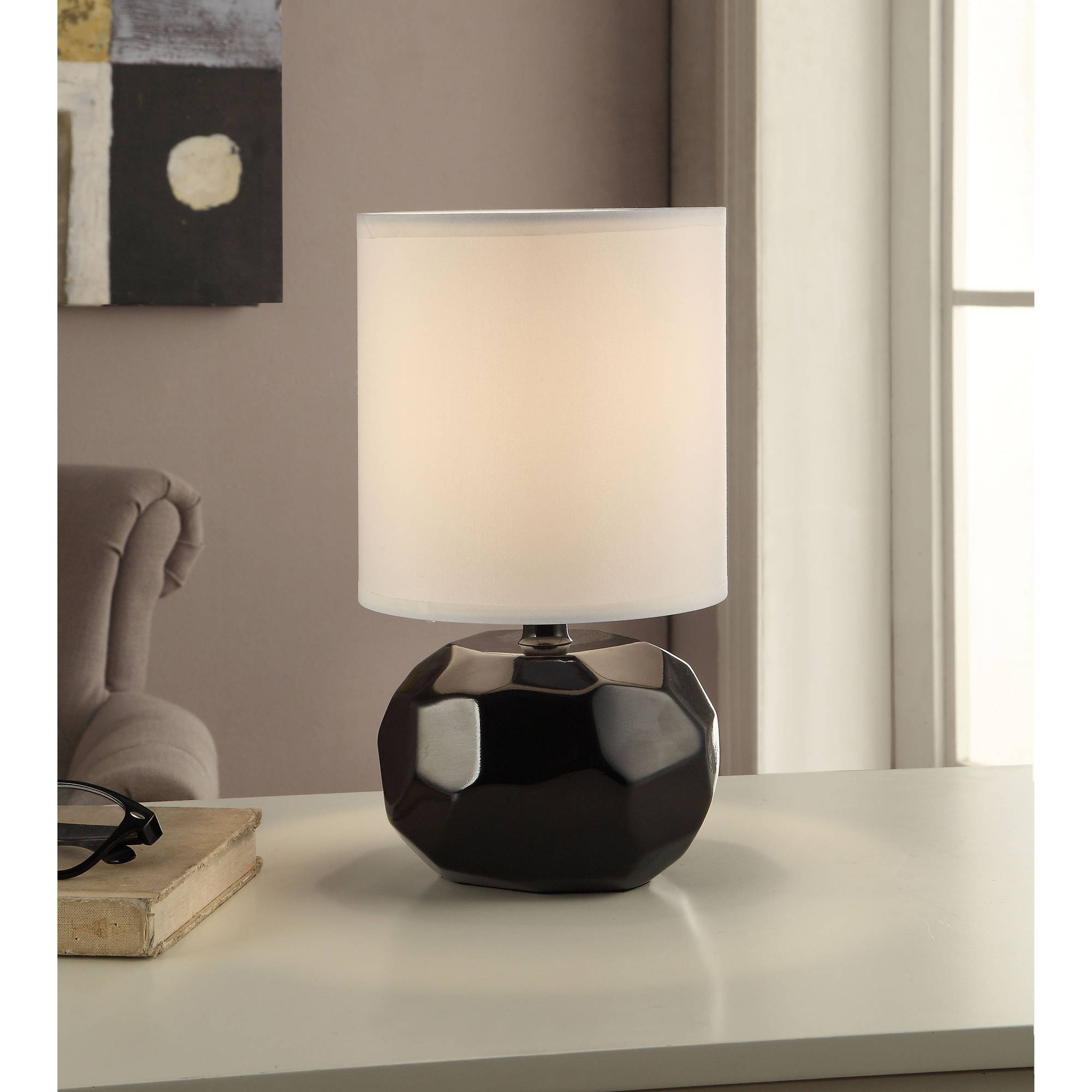 Mainstays Faceted Table Lamp, 12""