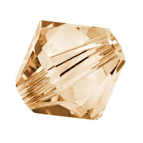 Swarovski Crystal, #5328 Bicone Beads 6mm, 20 Pieces, Crystal Golden Shadow