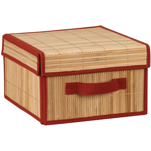 Household Essentials Brick and Bamboo Box