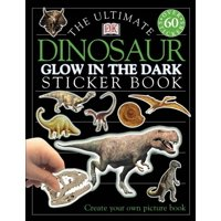 Ultimate Sticker Book: Glow in the Dark: Dinosaur (Paperback)